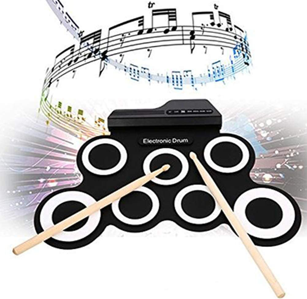 Foot Pedals /& MP3 Headphone Input Best Gift for Christmas Holiday Birthday 9 Pads Electric Drum Set with Headphone Jack Drum Stick Electronic Drum Set Built in Speaker