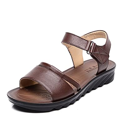 Mutter Sandalenleder Omas Ältere Menschen Schuhe Für Rutschfeste yb6Ygf7
