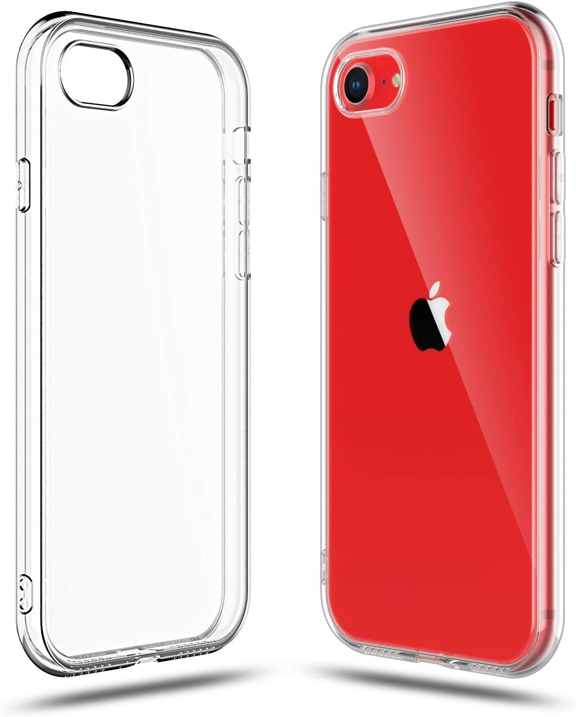 Shamo's Case for Apple iPhone SE 2020 2nd Generation, iPhone 8 and iPhone 7 Cover, 4.7-Inch, Shock Absorption TPU Rubber Gel Transparent Anti-Scratch ...