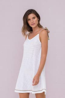 e1979e7b40f Pitusa Women s Greek Tie Dress White at Amazon Women s Clothing store
