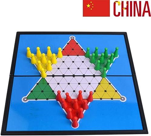 JinLiu Damas Chinas magnetico, Plegable Juego de Mesa para 2 o más Jugadores (Importado): Amazon.es: Hogar