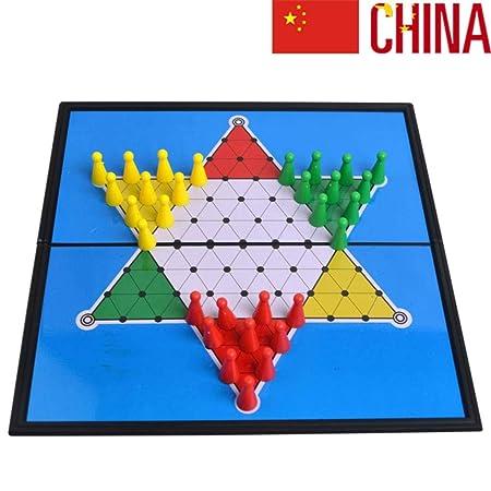 JinLiu Damas Chinas magnetico, Plegable Juego de Mesa para 2 o más ...