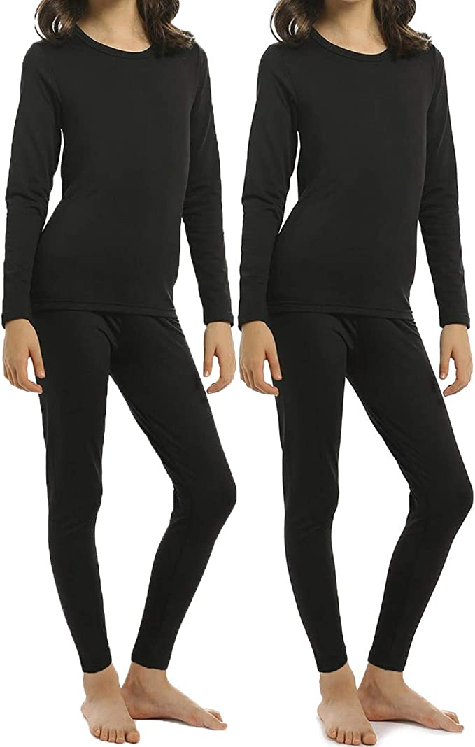Lightweight Fleece Lined Base Layer Only Boys Warm and Cozy Thermal Underwear Set