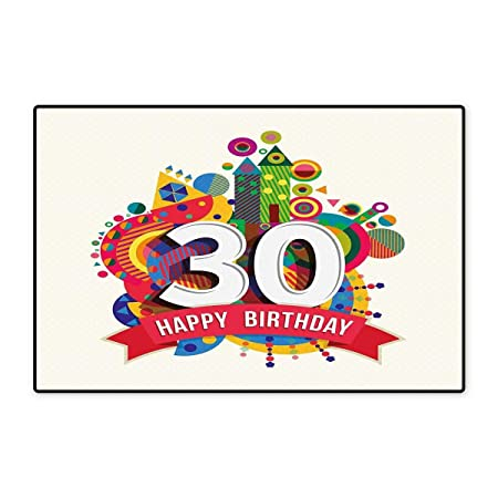 Alfombrillas para Puerta de 30 cumpleaños, para casa, diseño ...