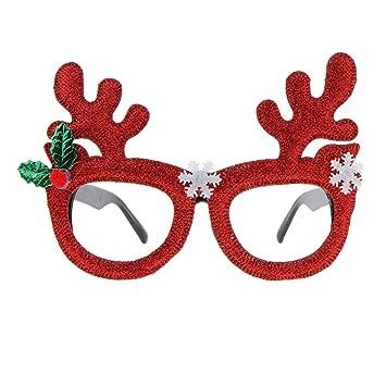 4485c3e4a98e Home Holic Christmas Novelty Kids Glasses 1 Pair of Fake Fancy Dress  Costume Glasses Children Toy