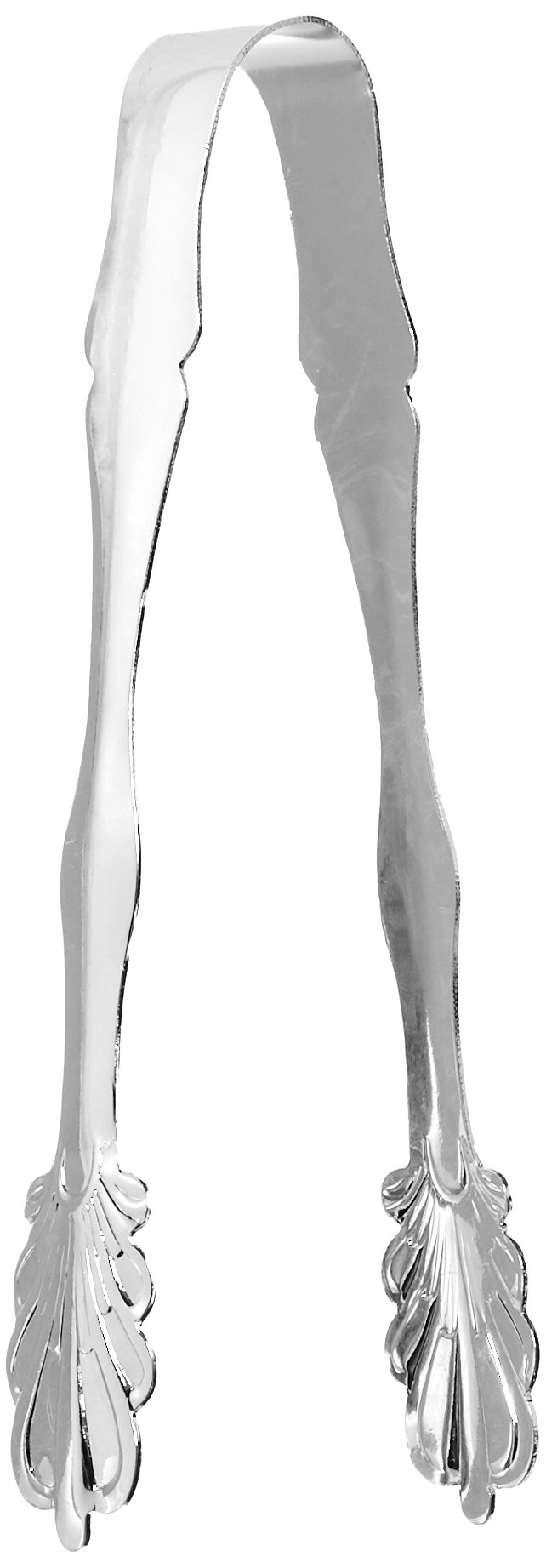 Elegance Silver 86242 Silver Plated Ice Tongs, 7''