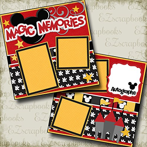 MAGICAL MEMORIES - Premade Scrapbook Pages - EZ Layout 2190