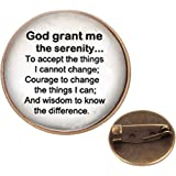 Pinback Buttons Badges Pins Religious Be Still and Know That I Am God Lapel Pin Brooch Clip Trendy Accessory Jacket T-Shirt Bag Hat Shoe