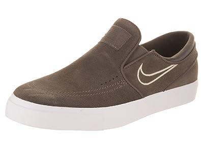 8c732ecf231 NIKE Men s Zoom Stefan Janoski Slip Ridgerock Khaki Fossil White Skate Shoe  11