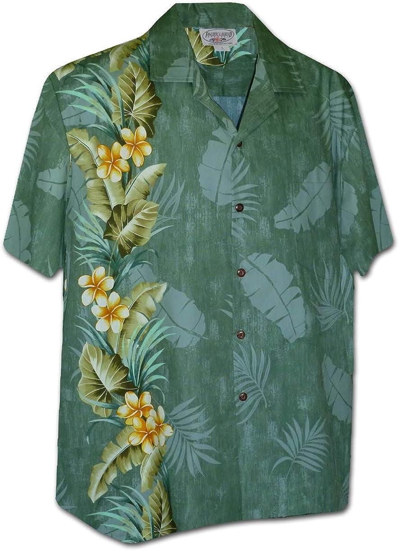 Pacific Legend Tropical Plumeria Single Panel Men's Hawaiian Shirts