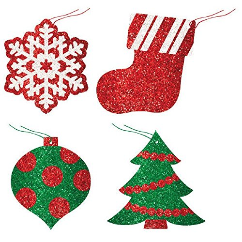 Christmas Glittery Gift Tags, 12 Ct. | Party Accessory