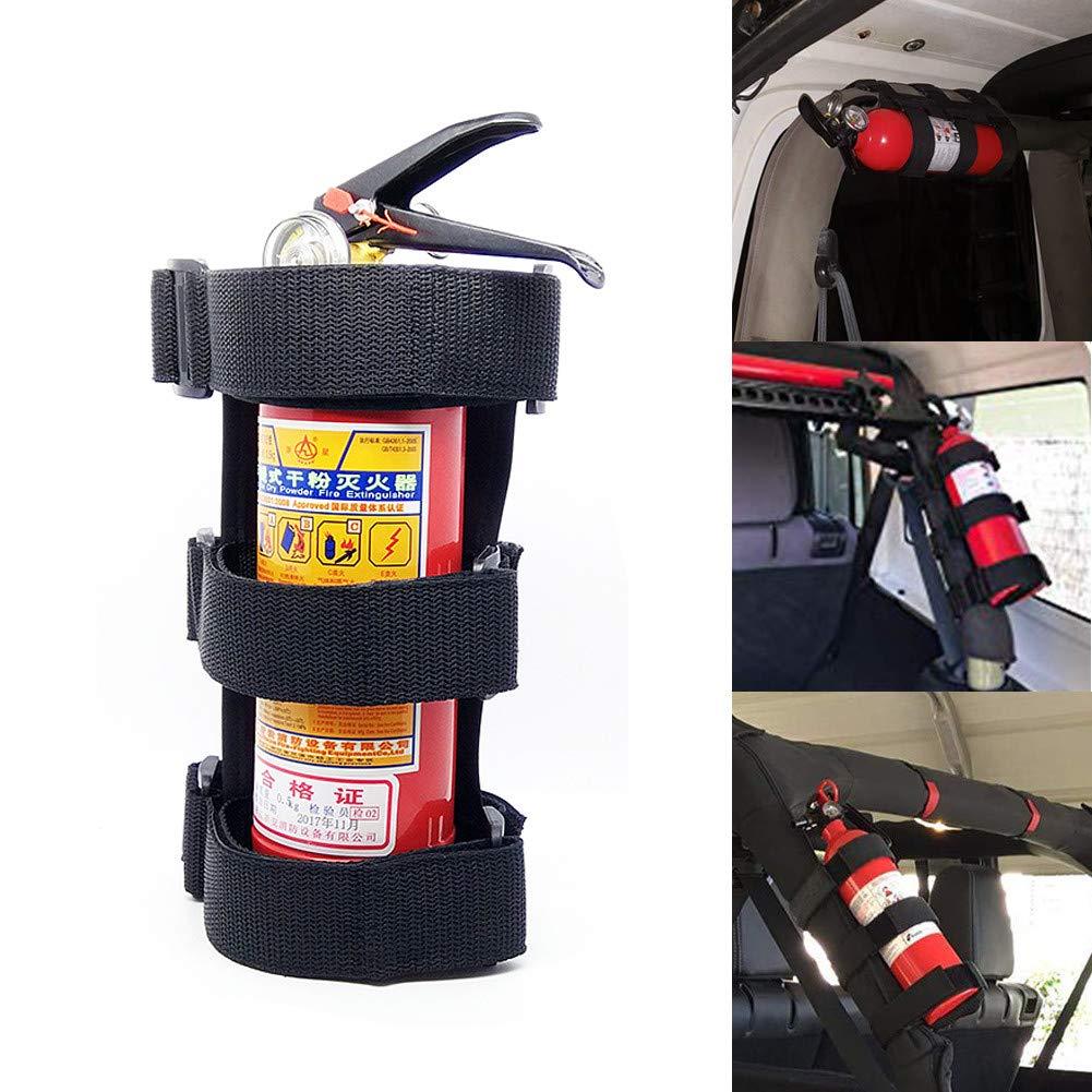 Bebliss Supporto fisso auto regolabile per staffa di montaggio estintore per roll bar per auto