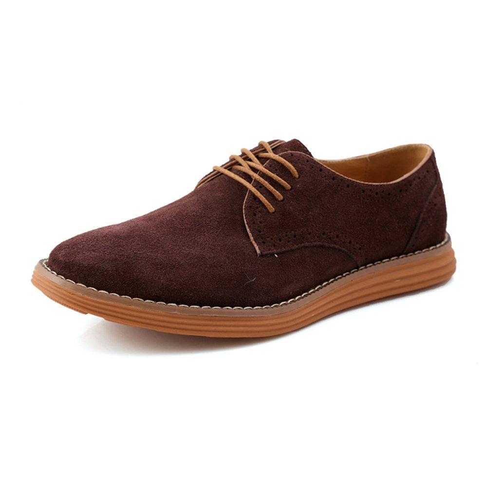 AARDIMI Zapatos Planos con Cordones de Caucho Hombre