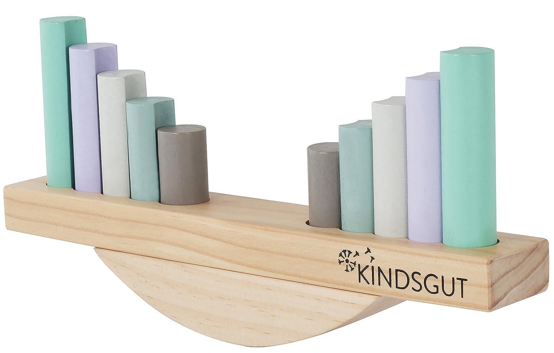 Kindsgut Jeu de balance pour bébé, jeu d'éveil avec deux séquences de formes, jouet d'apprentissage pour tout-petit