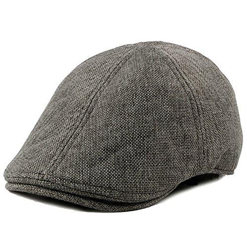 - WEIJUN Men Vintage Classic Beret IVY Hat newsboy artist Cap Cabbie Flat Outdoor - Grey