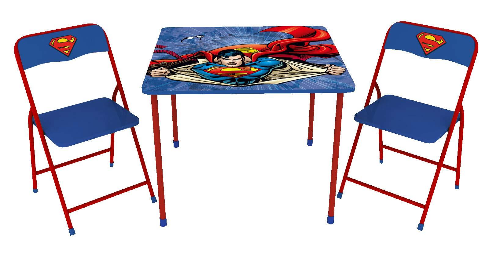 O'KIDS,INC. Superman Children's Metal Table & Chair 3Piece Set by O'KIDS,INC.