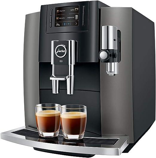 JURA E8 Dark Inox Independiente Máquina espresso 1,9 L Totalmente ...