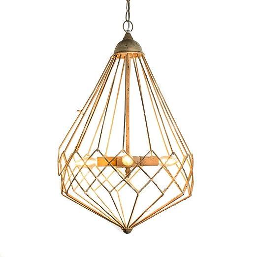 tapidecor LAMPARA DE Techo Geometrica Metal Dorado DECAPADO 42X68 ...