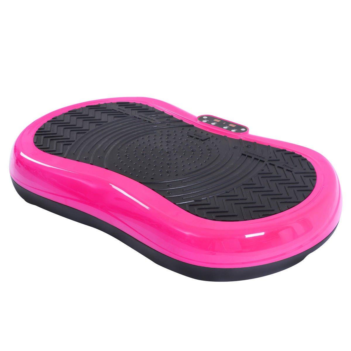 Tangkula Ultrathin Mini Crazy Fit Vibration Platform Massage Machine Fitness Gym (Pink) by Tangkula (Image #4)