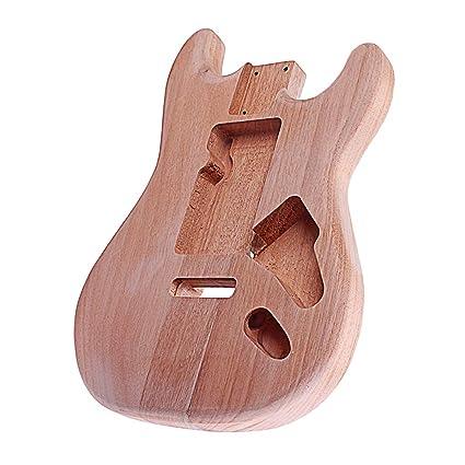 Sharplace Cuerpo De Guitarra Eléctrica Sin Acabado De Caoba Para Partes De Bricolaje De Guitarra