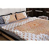 Indian Ombre Mandala Cotton Twin Bed Set Quilt Comforter Duvet Cover Blanket Pillow Cover
