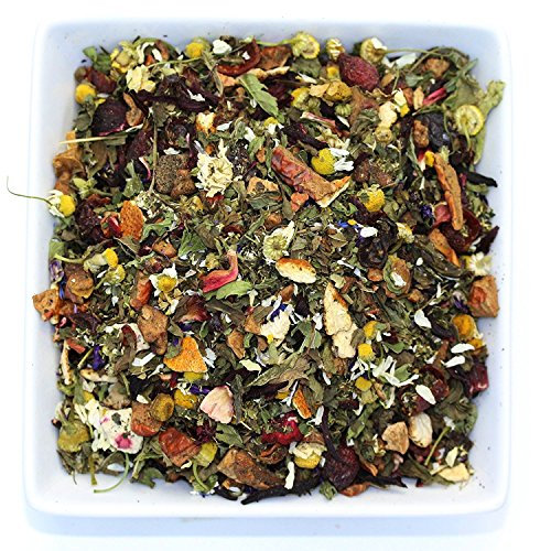 Tealyra - Peach Mint Julep - Chamomile Nettle Hibiscus - Herbal and Fruity Loose Leaf Tea - Calming & Relaxing - Hot and Iced Tea - Caffeine-Free - 220g (8-ounce) (Julep Mint Mint Tea)