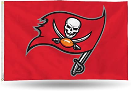 amazon com rico tampa bay buccaneers bucs red logo 3x5 flag outdoor house banner football sports outdoors rico tampa bay buccaneers bucs red logo 3x5 flag outdoor house banner football