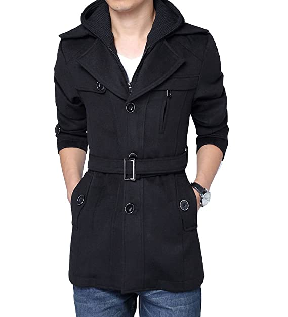 Amazon.com: S&S - Chaqueta de lana para hombre, con capucha ...