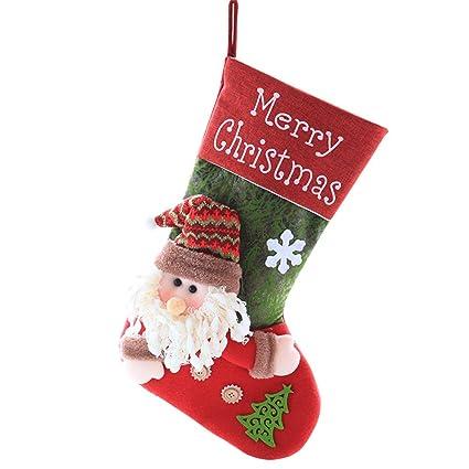 LEYOUDIAN baijian Bolsa de Regalo Medias de Navidad árbol de Navidad Colgante Grande Bolsa de Regalo