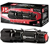 J5 Tactical Hyper V Ultra Bright Tactical Flashlight - Black