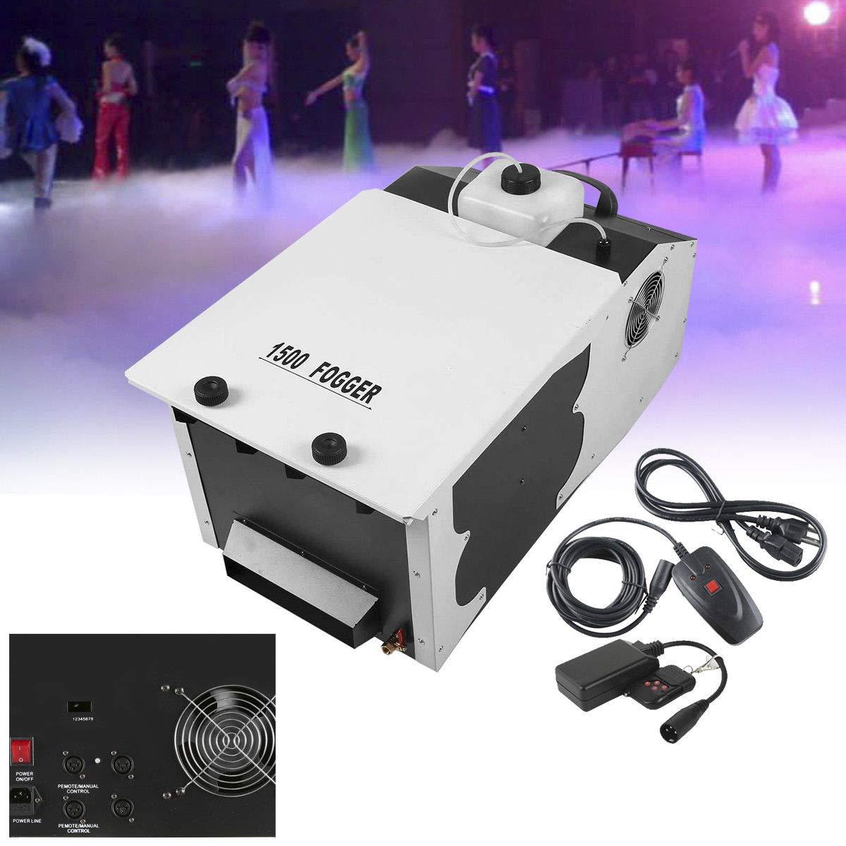 Tengchang 1500W Dry Ice Effect Low Lying Smoke Fog Machine DJ Stage Remote Fogger (Style D)