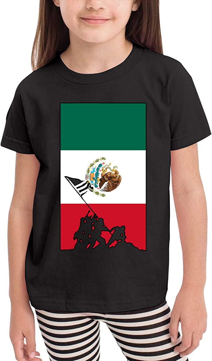 SHIRT1-KIDS Mexico Flag Veteran Military Army Toddler//Infant Crewneck Short Sleeve Shirt Tee Jersey for Toddlers