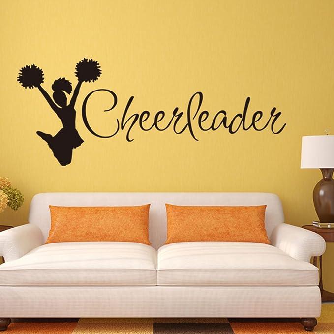 Wall Vinyl Sticker Room Decals Mural Design Art Cheerleader Company Girl bo1121