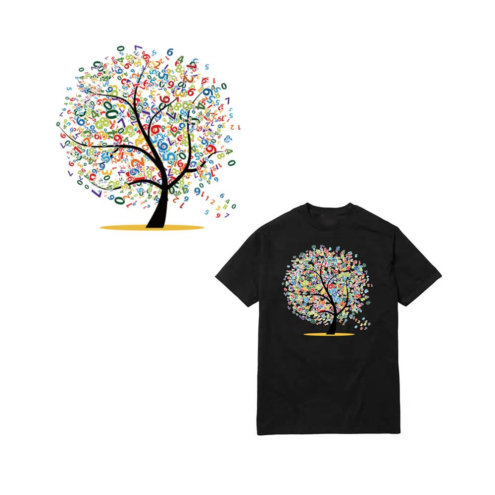 Amazon 205 X 197cm Iron On Patches For Clothes Digital Tree