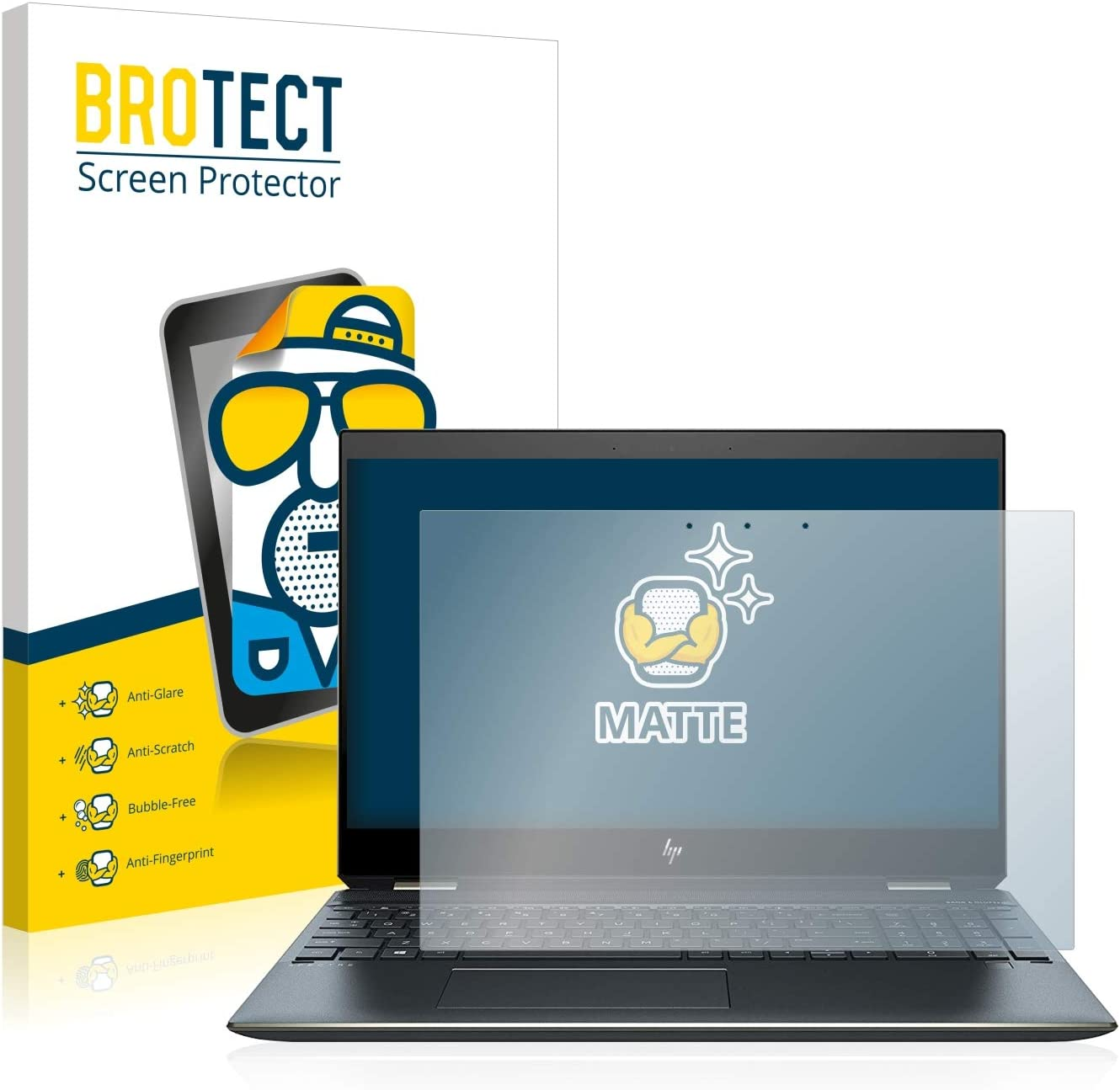 Anti-Fingerprint Protection Film brotect 1-Pack Screen Protector Anti-Glare compatible with HP Spectre x360 15-df0304ng Screen Protector Matte