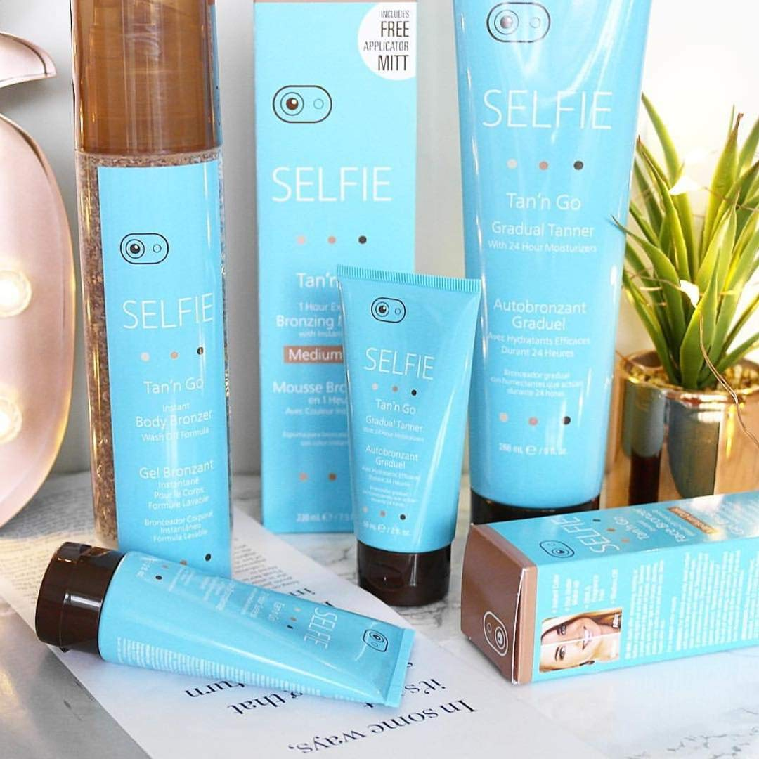 Selfie Tan'n Go Instant Body Bronzer with Wash Off Formula - Sunless self tanner (Medium Tan) rich,  Exotic natural looking fragrance-free tan for head to toe for  all skin types, 6.7 oz by Selfie (Image #5)