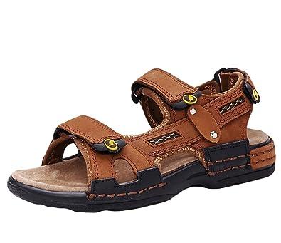 Insun Jungen Sportliche Sandale mit Klettverschluss Trekking Sandalen Strand Wandersandalen Schwarz 36 EU dAuuqq5Qk