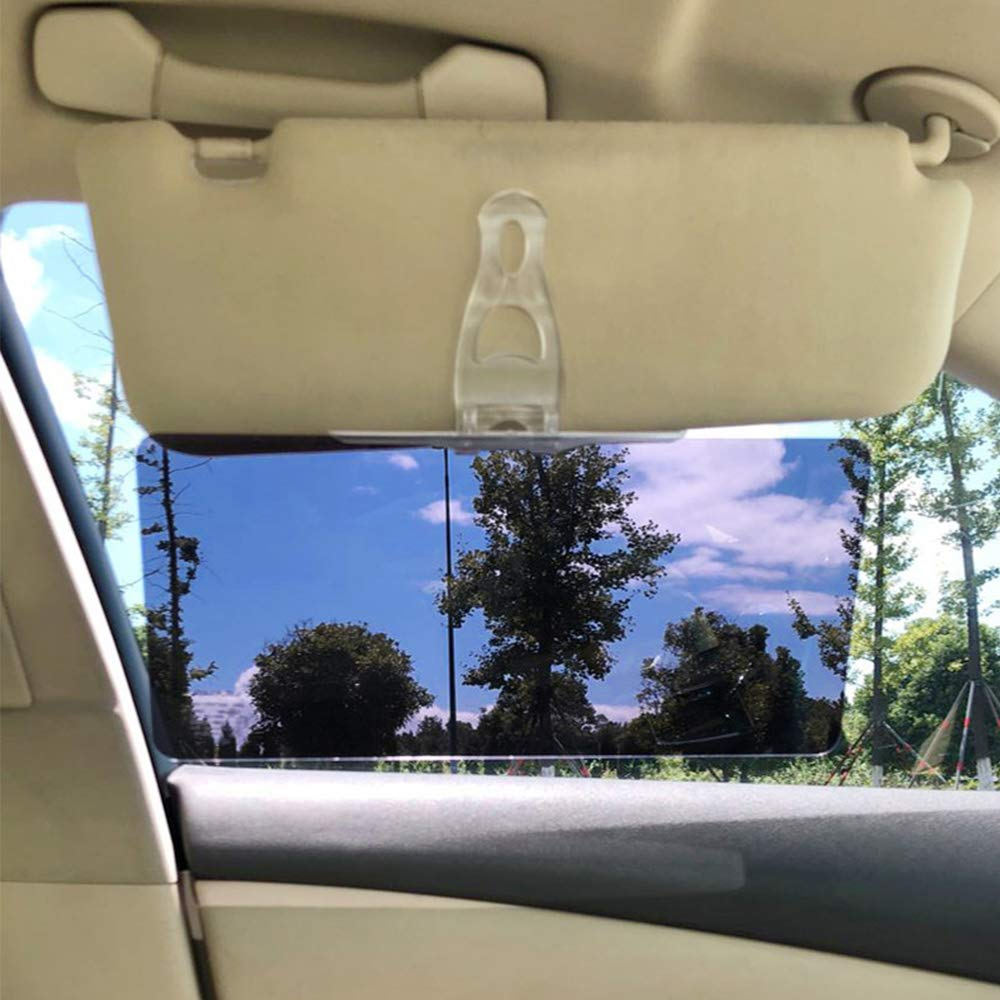 Car Sun Visor Extension WENTS Car Anti-Glare Windshield Extender Visor Day and Night Vision Eye Protector Anti-Glare Anti-UV Anti-Dazzle Glare Driving HD Visor