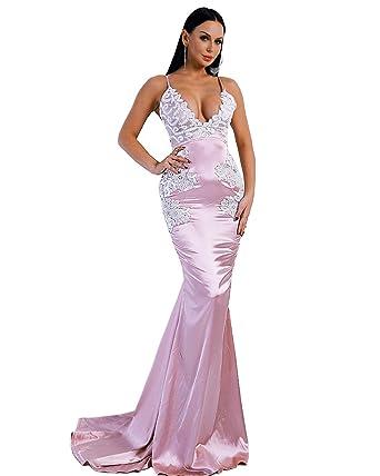Missord Wo's Harness V Neck Backless Elegant Lace Decoration ...