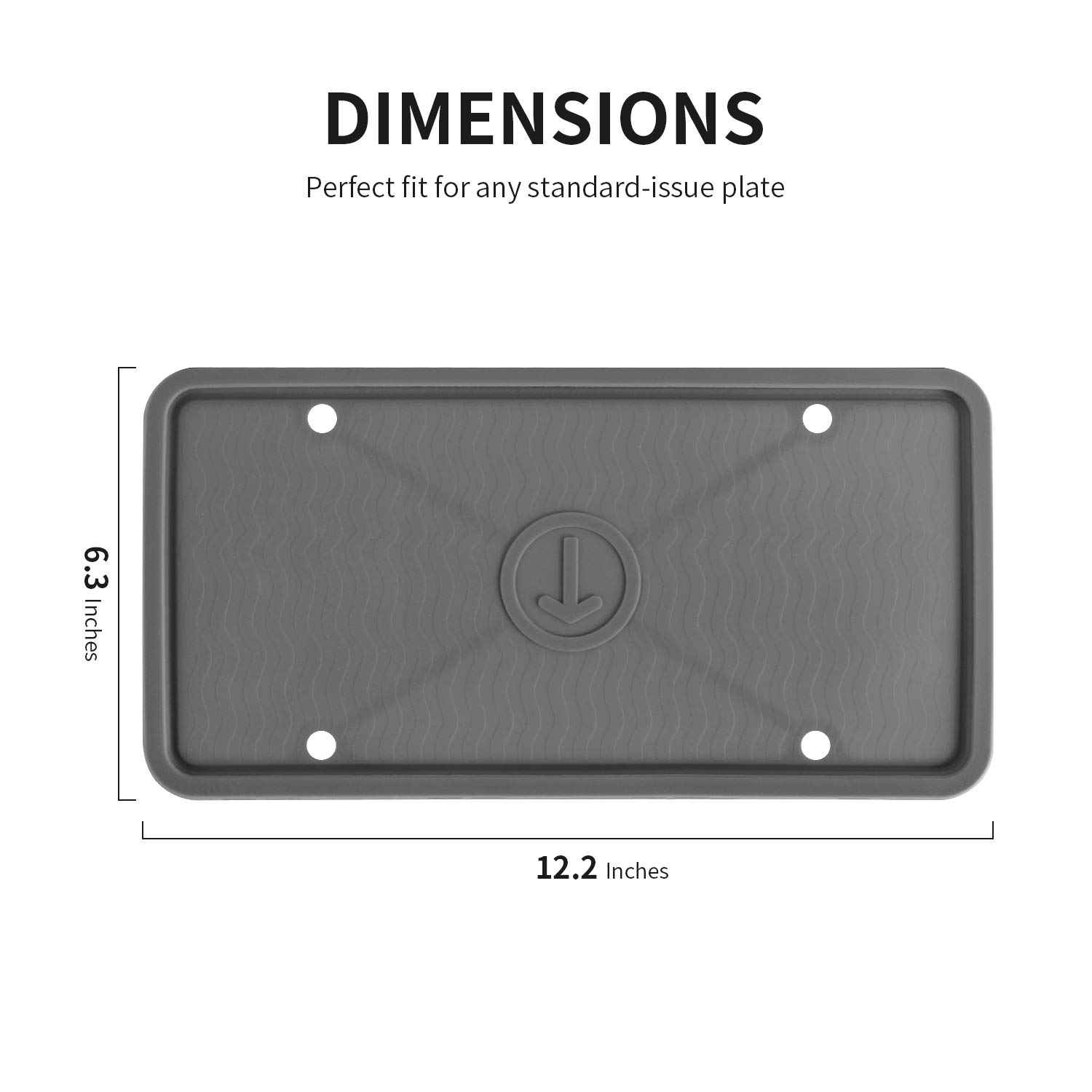 Rust-Proof,Rattle-Proof,Weather-Proof ZAKAA 2 Pack License Plate Frame,Premium Silicone Material White