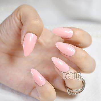 Pink Oval Nails Nail Designs Nail Art Nails Stiletto Nails