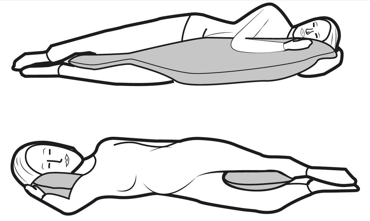 Cuscino gravidanza e allattamento Flexofill - uso in gravidanza