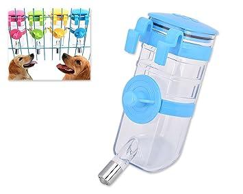 DSstyles 375 ml mascota colgante botella de agua dispensador mascotas suministros para cachorro de perro, gato, conejo: Amazon.es: Productos para mascotas