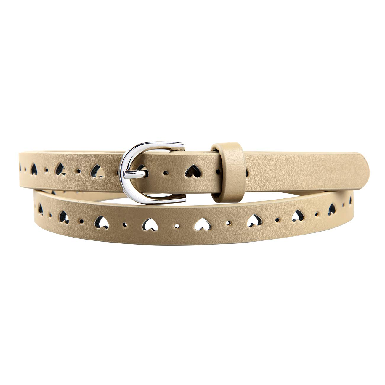Best Quality PU Leather Belt for Kids girls TeensPin Buckle
