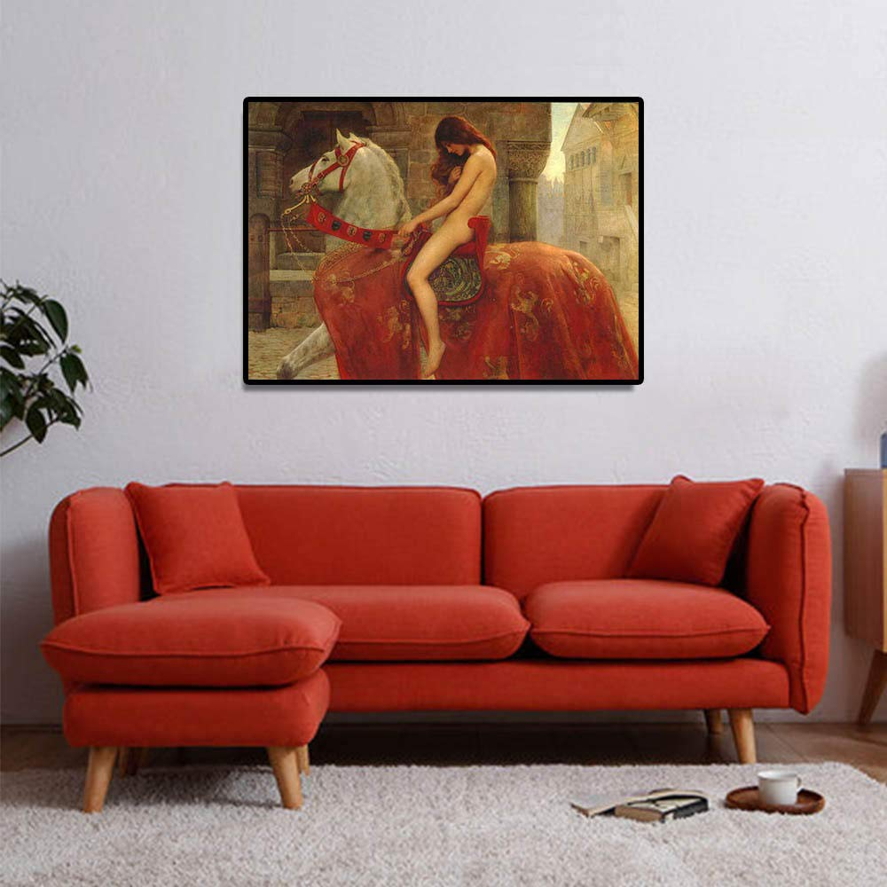 QianLei Pintura de fama Mundial John Collier Lady Godiva ...