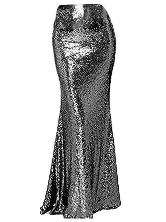4d922ab3fd7bf AiniDress Women s High Waist Sequins Skirts Mermaid Skirt Prom Dresses Plus  Skirt 2017 Black Size 2