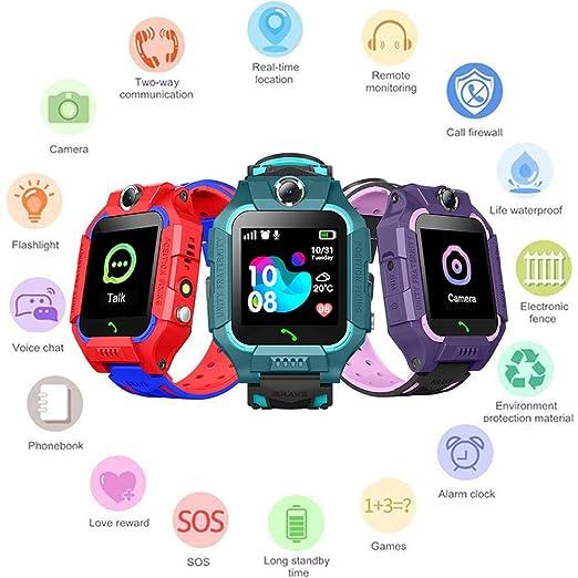 su-xuri Niños Tracker Smart Watch Phone IP67 Impermeable SOS ...
