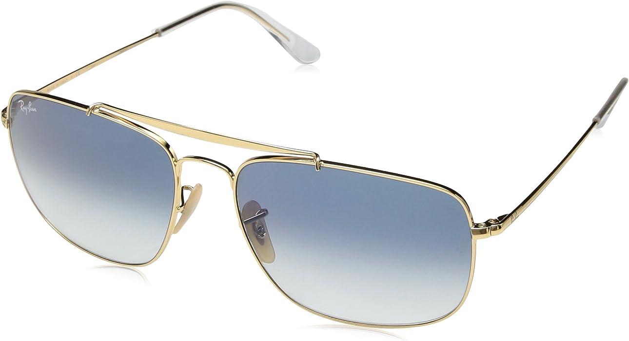 0aa306d54e6 Amazon.com  Ray-Ban Men s Steel Man Sungkass Square Sunglasses