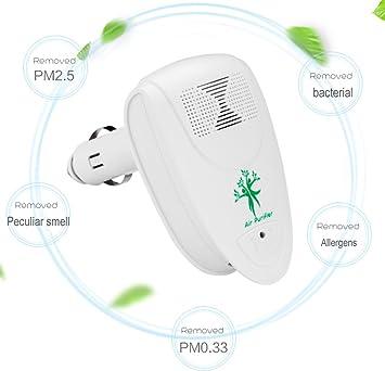 Ruichenxi Purificador aire coche Purificador de aire Ambientador coche Purificador Ionizador Mini Ambientador Portátil Coche purificador