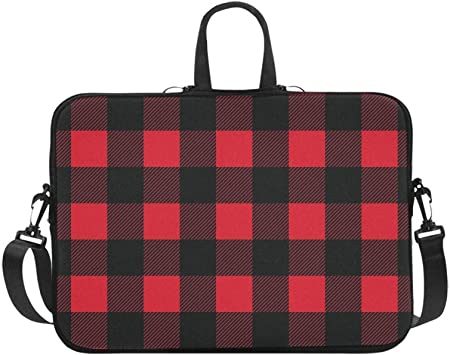 Grey Plaid 17 Inch Protective Laptop Sleeve Ultrabook Notebook Carrying Case Compatible with MacBook Pro MacBook Air Tablet Briefcase Bag
